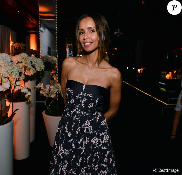 Exclusif - Sonia Rolland portant une robe LYUBOV - Soirée d'ouverture du Club by Albane (rooftop JW Mariott) lors du 70ème festival de Cannes le 18 mai 2017. © Jean Picon/Bestimage