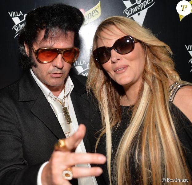 Exclusif - Loana Petrucciani et son ami Eryl Prayer (sosie de Elvis Presley) - Soirée des invités Unexpected à la Villa Schweppes lors du 70ème festival de Cannes le 20 mai 2017.20/05/2017 - Cannes