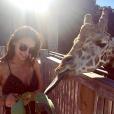 Jade LeBoeuf a publié une photo d'elle avec une girafe sur sa page Instagram au mois de mai 2017