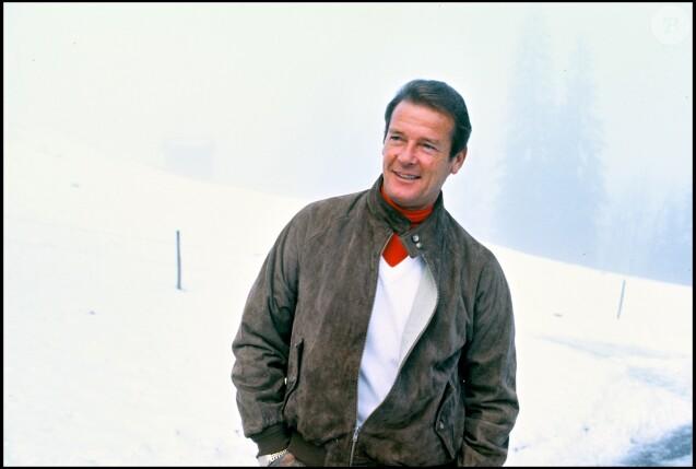 Roger Moore à Gstaad en 1983
