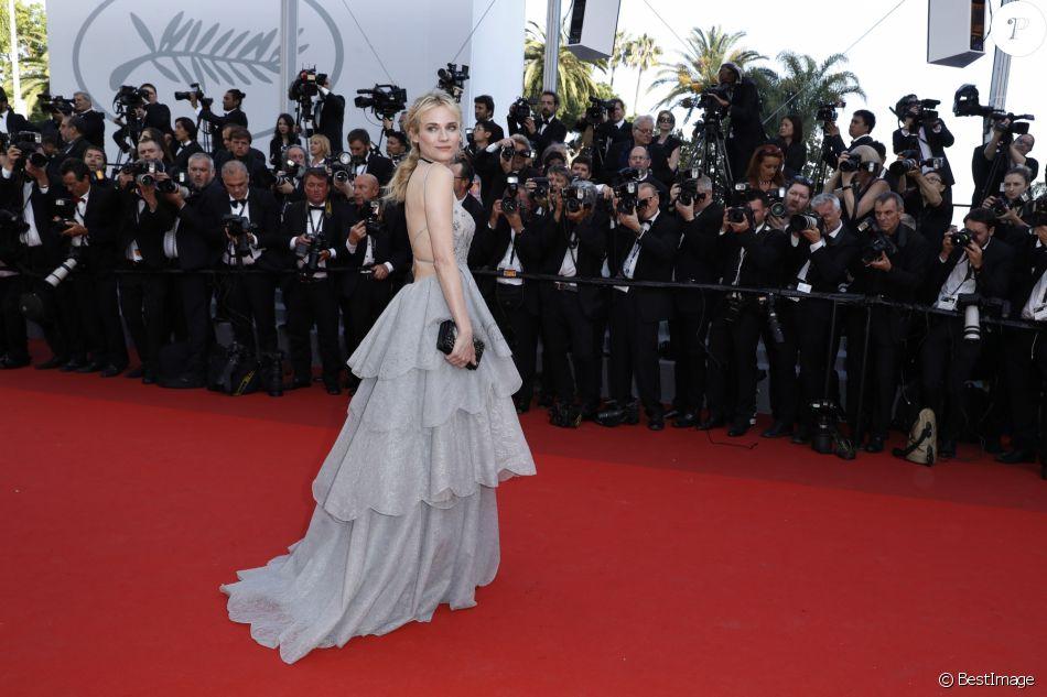 Diane Kruger (en robe Christian Dior) - Montée des marches de la soirée du 70ème anniversaire du Festival de Cannes. Le 23 mai 2017. © Borde-Jacovides-Moreau / Bestimage