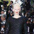 Tilda Swinton (en Chanel) -Montée des marches de la soirée du 70ème anniversaire du Festival de Cannes. Le 23 mai 2017. © Borde-Jacovides-Moreau / Bestimage