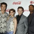 Miles Teller, Kate Mara, Jamie Bell, Michael B Jordan à la soirée « CinemaCon Big Screen Achievement Awards 2015 » à Las Vegas, le 23 avril 2015