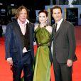 """Mickey Rourke, Evan Rachel Wood et Darren Aronofsky, lors de la présentation de """"The Wrestler"""" au Festival de Venise"""