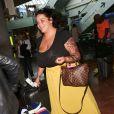 Exclusif - Sarah Fraisou arrive à l'aéroport de Nice lors du 70ème Festival International du Film de Cannes le 25 mai 2017.
