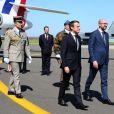Semi-exclusif - Le président de la république française, Emmanuel Macron et le premier ministre belge, Charles Michel - Le président de la république française et sa femme la première dame arrivent à l'aéroport militaire de Melsbroek, à Steenokkerzeel, le 25 mai 2017, pour le sommet de l'OTAN. © Sébastien Valiela/Bestimage