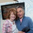 Gérard Holtz et sa femme Muriel Mayette au Village de Roland-Garros à Paris, le 3 juin 2017. © Dominique Jacovides - Cyril Moreau/ Bestimage