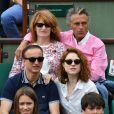 Gerard Holtz et Muriel Mayette-Holtz à Roland-Garros le 3 juin 2017.