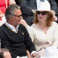 Gerard Holtz et Muriel Mayette à Roland-Garros le 4 juin 2017