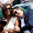 Karine Lemarchand et Stéphane Plaza aperçus dans les tribunes lors des internationaux de France de Roland-Garros à Paris, le 4 juin 2017. © Dominique Jacovides-Cyril Moreau/Bestimage