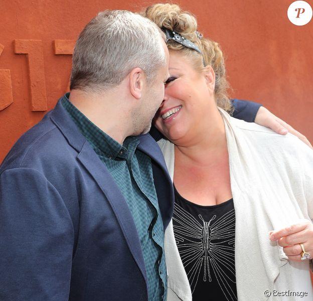 Marianne James et son compagnon - Jour 10 - Les célébrités au village des Internationaux de Tennis de Roland Garros à Paris. Le 6 juin 2017 © Moreau-Jacovides / Bestimage