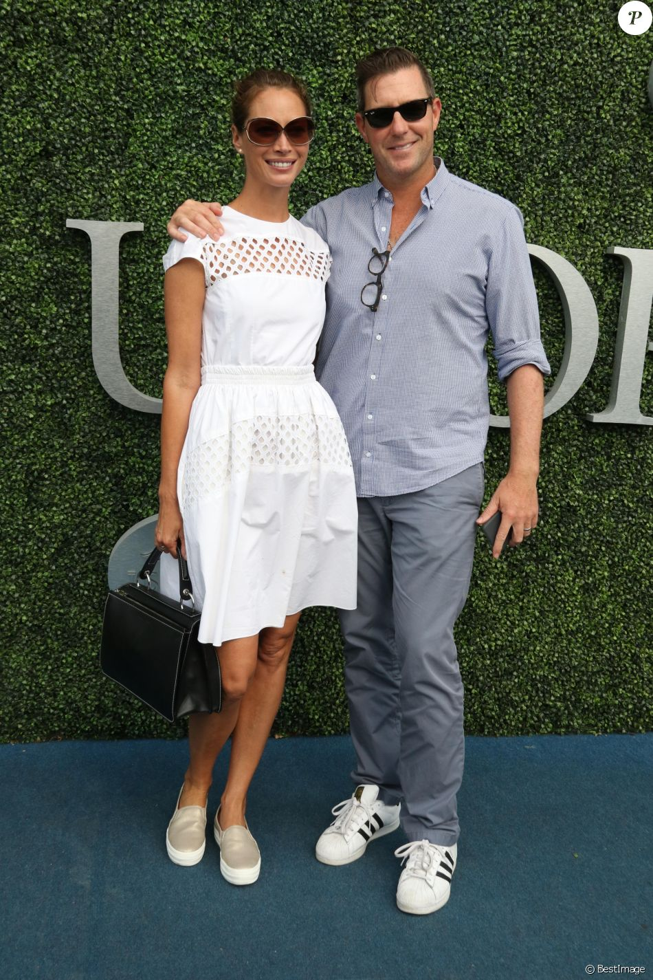 Christy Turlington et son mari Ed Burns à l'US Open 2016 au USTA Billie Jean King National Tennis Center à Flushing Meadows, New York City, New York, le 10 septembre 2016. © John Barrett/Globe Photos/Zuma Press/Bestimage