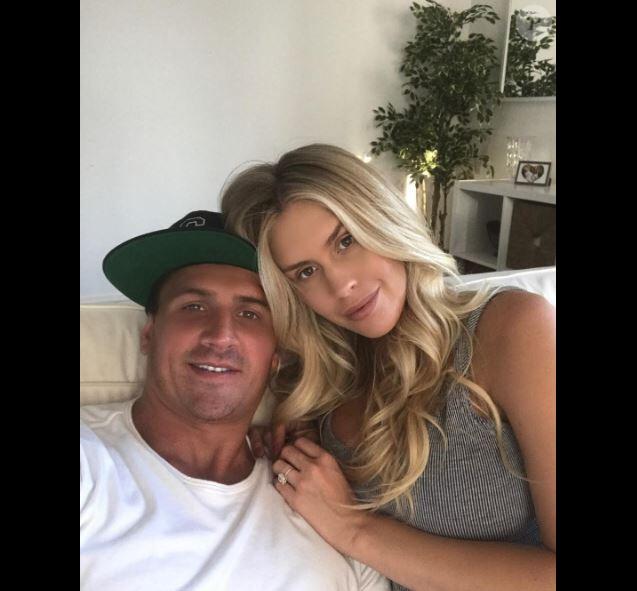 Ryan Lochte avec sa fiancée sur Instagram le 2 juin 2017.
