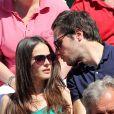 Vianney et sa compagne Catherine Robert lors des Internationaux de France de Roland-Garros à Paris le 10 juin 2017. © Jacovides - Moreau / Bestimage