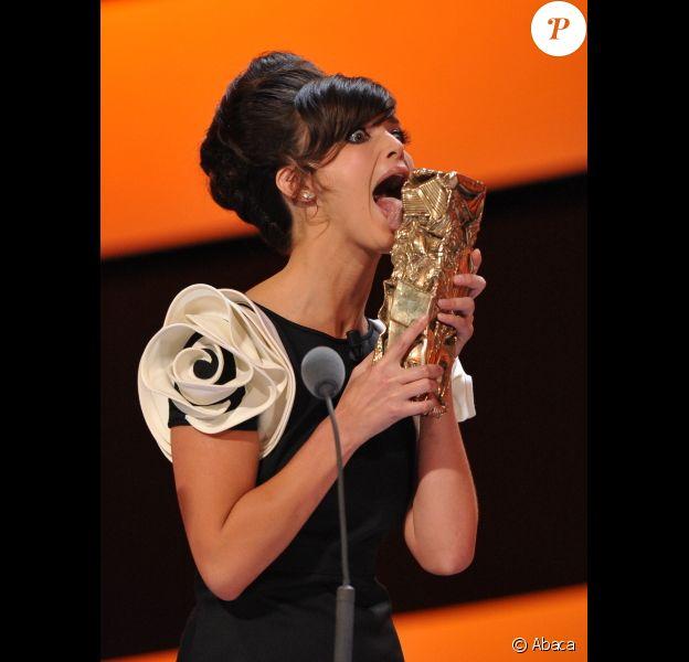 Charlotte Le Bon lors de la cérémonie des César 2011.