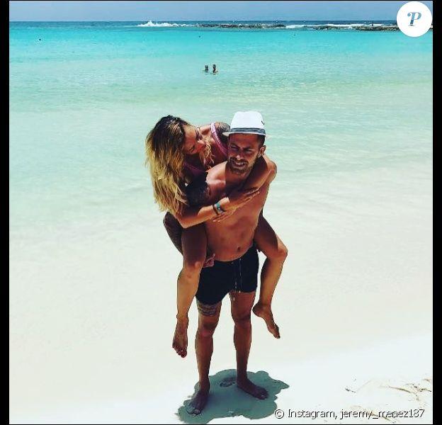 Emilie Nef Naf et Jérémy Menez à Cancun, le 11 juin 2017.