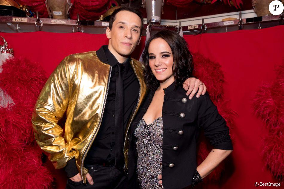 """Exclusif - Grégoire Lyonnet et sa femme Alizée - Backstage de l'émission """"Tous au Moulin Rouge pour le sidaction"""" au Moulin Rouge à Paris le 20 mars 2017.  © Cyril Moreau - Dominique Jacovides / Bestimage"""