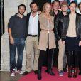 Joy Esther, Isabelle Vitari, Thierry Samitier, Jean-Baptiste Shelmerdine posent pour le photocall de la serie  Nos Chers Voisins  durant le 15e Festival de la Fiction Tv de La Rochelle, le 14 septembre 2013.
