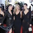 "Rossy de Palma, Oriane Deschamps et sa mère Michèle Laroque - Montée des marches du film ""Okja"" lors du 70ème Festival International du Film de Cannes. Le 19 mai 2017. © Borde-Jacovides-Moreau / Bestimage"