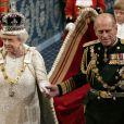 La reine Elizabeth II et le prince Philip, duc d'Edimbourg, en novembre 2006 lors de l'ouverture du Parlement à Londres.