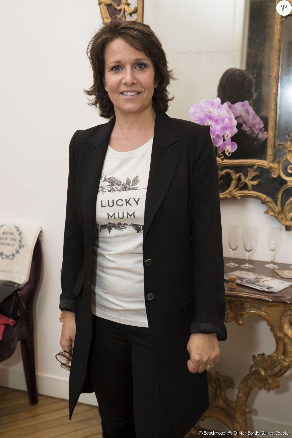 """Exclusif - Carole Rousseau au cocktail organisé pour le lancement de """"Lucky Mum"""". Paris, le 10 mai 2017. © Olivier Borde-Guirec Coadic/Bestimage"""