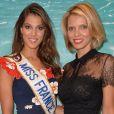 Iris Mittenaere, Miss France 2016 et Sylvie Tellier au salon Top Resa 2016 à Paris le 20 septembre 2016. © Veeren / Bestimage