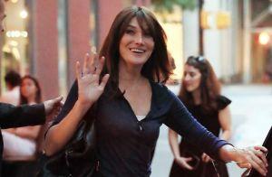 Carla Bruni : Radieuse à New York avec son plus grand soutien, Nicolas Sarkozy