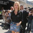 """Sylvie Tellier - Arrivées au défilé de mode """"Jean Paul Gaultier"""", collection Haute-Couture automne-hiver 2017/2018, à Paris. Le 5 juillet 2017 © CVS - Veeren / Bestimage"""