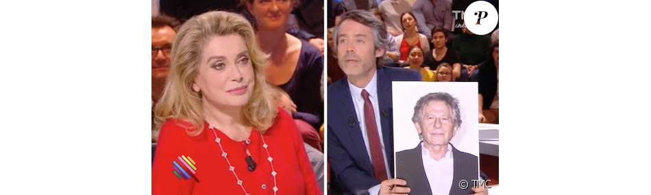 Image de l'émission Quotidien du 16 mars 2017 sur TMC : Catherine Deneuve parle de Roman Polanski
