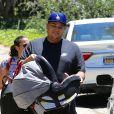 Exclusif - Rob Kardashian le jour de la fête des pères avec sa fille Dream et King Cairo le fils de Blac Chyna à Los Angeles le 18 juin 2017