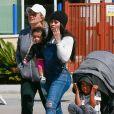 Exclusif - Blac Chyna et ses enfants, sa fille Dream Renée Kardashian et son fils King Cairo Stevenson sont allés à Legoland à Redondo Beach, le 10 juin 2017.
