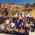 Luca Zidane partage une grande photo de famille sur Instagram, lors de vacances à Ibiza. Juillet 2017.