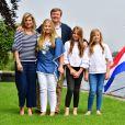 la reine Maxima, le roi Willem-Alexander, La princesse Amalia, la princesse Alexia et la princesse Ariane - Rendez-vous avec la famille royale des Pays-Bas à Warmond le 7 juillet 2017. 07/07/2017 - Warmond