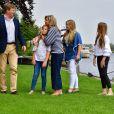 le roi Willem-Alexander, la princesse Ariane, la reine Maxima, La princesse Amalia et la princesse Alexia - Rendez-vous avec la famille royale des Pays-Bas à Warmond le 7 juillet 2017. 07/07/2017 - Warmond