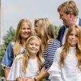 La princesse Amalia, la reine Maxima, le roi Willem-Alexander, la princesse Ariane, la princesse Alexia - Rendez-vous avec la famille royale des Pays-Bas à Warmond le 7 juillet 2017. 07/07/2017 - Warmond