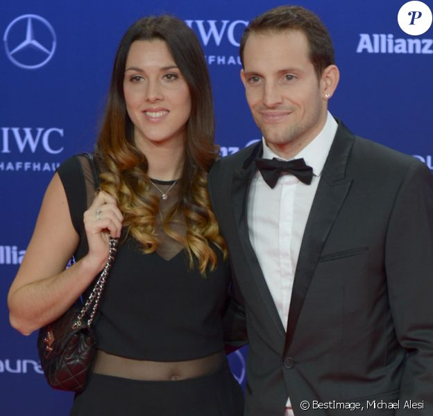 Renaud Lavillenie et Anaïs Poumarat - Soirée des Laureus World Sport Awards 2017 à Monaco le 14 février 2017. © Michael Alesi/Bestimage