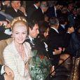 ARCHIVES - MICHELE MERCIER, SON MARI CLAUDE BOURILLOT ET ROBERT HOSSEIN LORS DE LA PREMIERE D' UN FILM A PARIS  (1967-1968) ANGELIQUE...01/01/0000 -