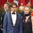 Johnny Depp et Vanessa Paradis aux Oscars 2005.