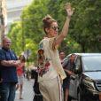 Céline Dion s'est rendue chez l'opticien Meyrowitz avec ses jumeaux Eddy et Nelson pour s'acheter une paire de lunettes de soleil avant de rentrer à l'hôtel Royal Monceau, à Paris le 17 juillet 2017.