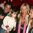 Filip Nikolic avec sa fille Sacha et sa compagne Valérie