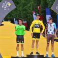 Rigoberto Uran, Christopher Froome, Romain Bardet - Arrivée de la 104ème édition du Tour de France sur les Champs-Elysées à Paris le 23 juillet 2017. © Giancarlo Gorassini/Bestimage