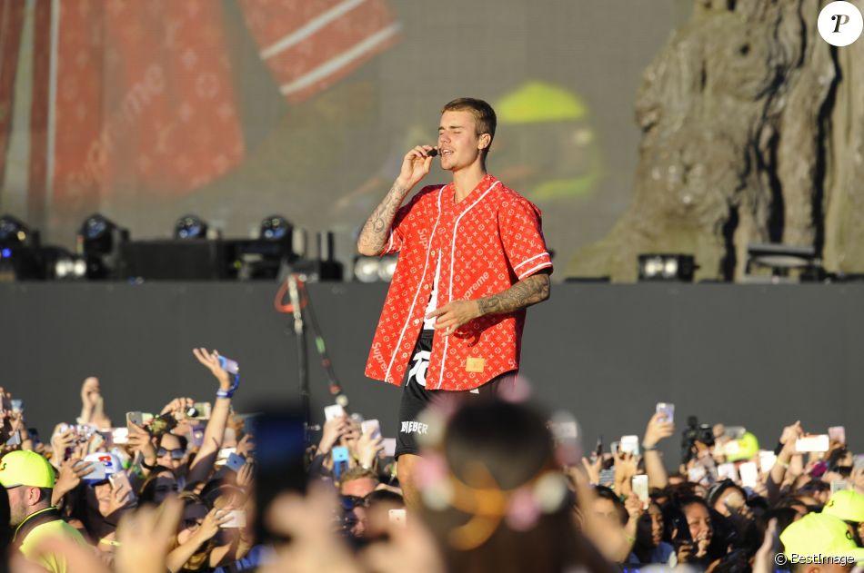 Justin Bieber en concert au British Summer Time à Hyde Park à Londres, le 2 juillet 2017