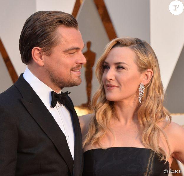 Leonardo DiCaprio et Kate Winslet - 88e cérémonie des Oscars à Los Angeles le 28 février 2016