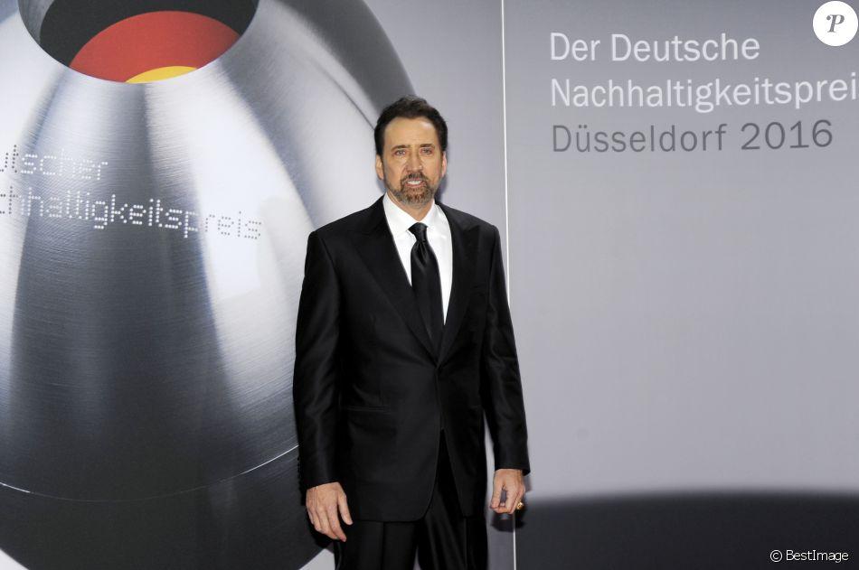 """Nicolas Cage à la soirée """"Deutscher Nachhaltigkeitspreis 2016"""" à l'hôtel Maritim à Düsseldorf. Le 25 novembre 2016"""