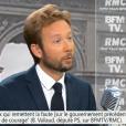 Boris Vallaud sur le plateau de BFMTV / RMC le 25 juillet 2017