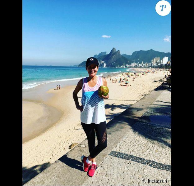 Cristina Cordula à Rio de Janeiro, le 26 juillet 2017.