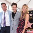Will Arnett, Jason Bateman et Jennifer Aniston - Jason Bateman reçoit son étoile sur le Walk of Fame à Hollywood, le 26 juillet 2017