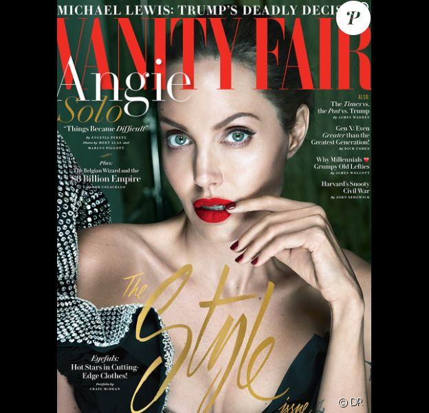 Angelina Jolie en couverture du magazine Vanity Fair (édition américaine) - septembre 2017