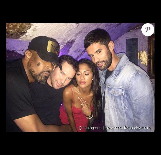 Jean Bernard Versini a passé la soirée avec Nicole Scherzinguer - Photo publiée sur Instagram, le 30 juillet 2017