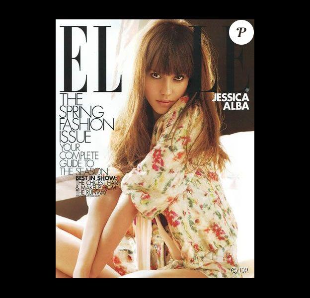 Couverture du Elle US avec Jessica Alba et Fergie en pages intérieures